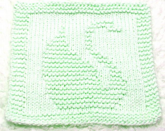 Knitting Cloth Pattern   - SAMMY THE SWAN -  PDF