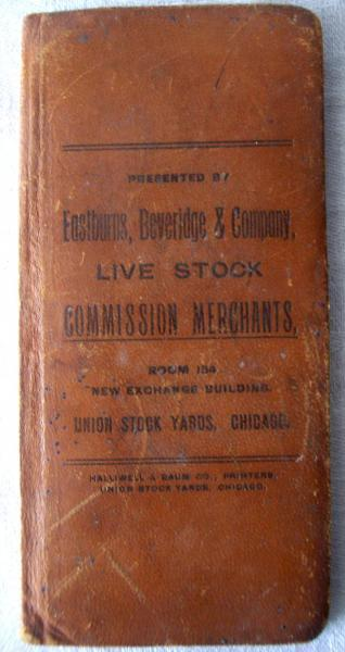 Antique 1904 Pocket Ledger Eastburns Beveridge and Company