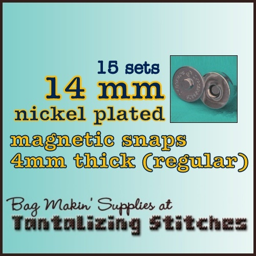 15 Nickel Plated 14mm Magnetic Snaps - 4mm thick