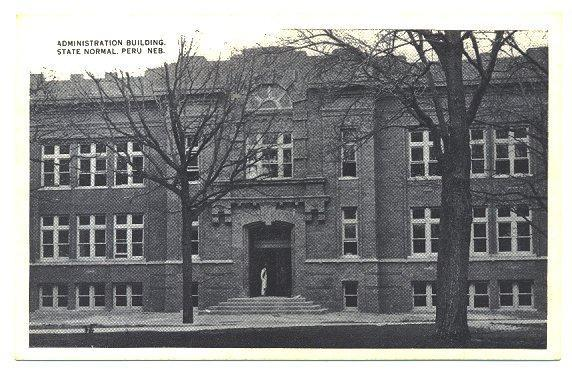1910s Postcard Administration Building Peru Nebraska College Campus