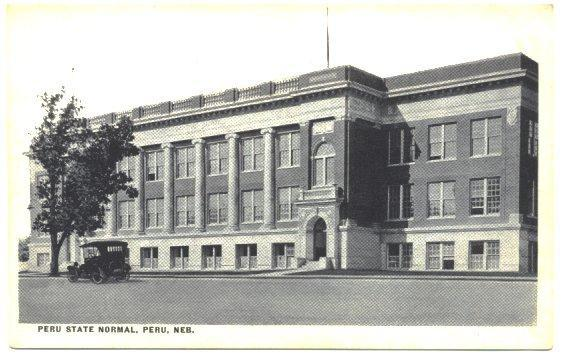 Vintage Peru Nebraska Postcard 1910s College Building Campus