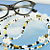 Readers, Glasses Leash Class Beads Golden Fishies for adding handmade fun