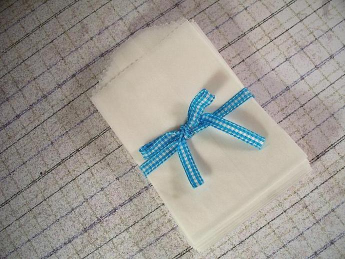 "50 Small Flat Glassine Bags 2-3/4""X4-1/8"" (White)"