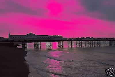 BRIGHTON PINK PIER  ...........EAST SUSSEX.. UK