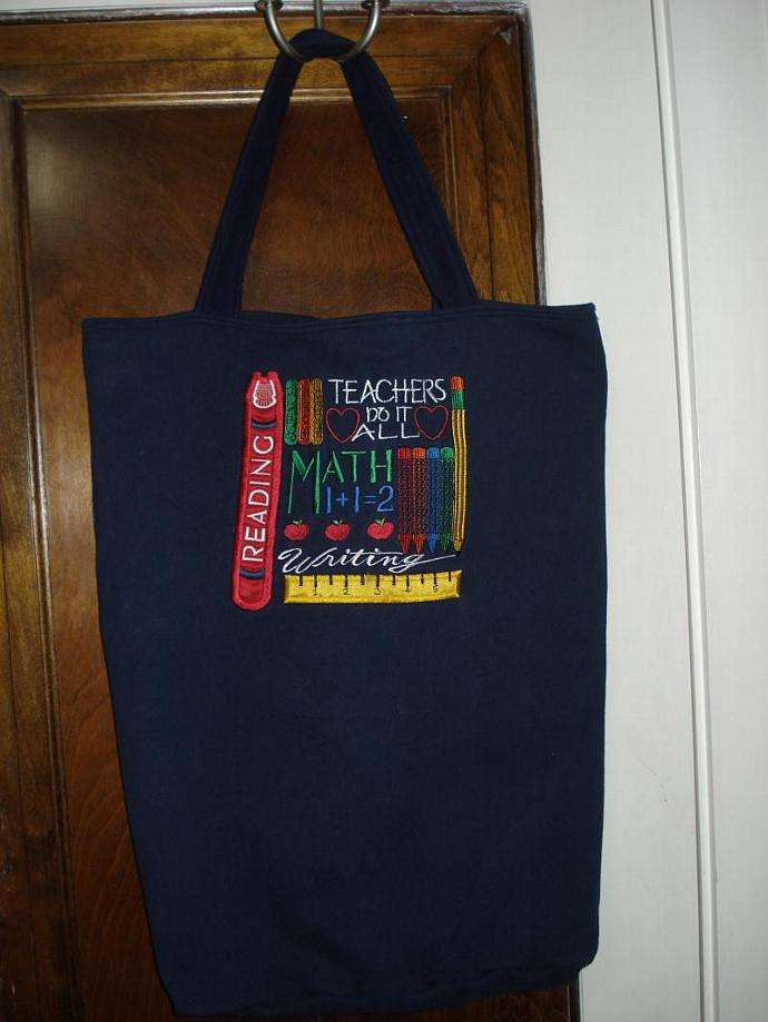 Revalued Sweatshirt X-Large Tote Bag - Teacher