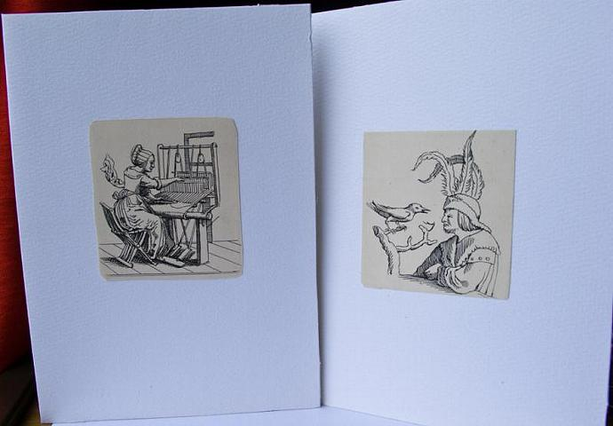 """Holbein print cards from """"In Praise Of Folly"""""""
