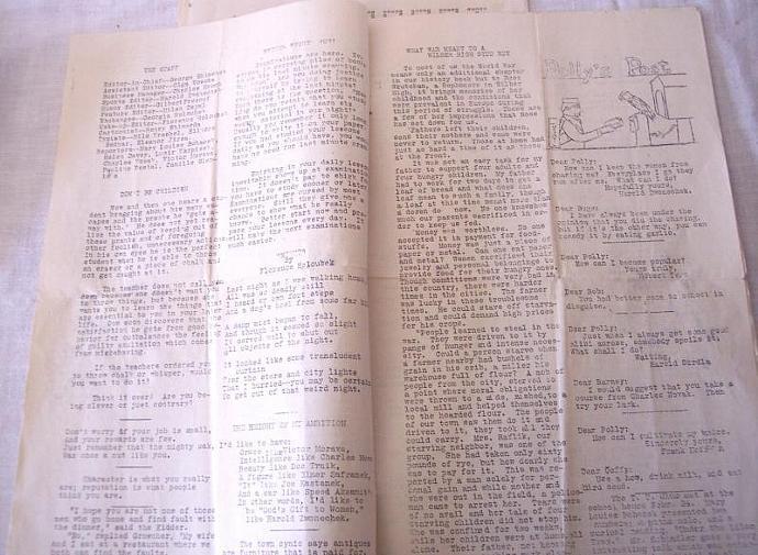 Wilber Nebraska High School Newspapers The Parrot 1931 Lot of 3