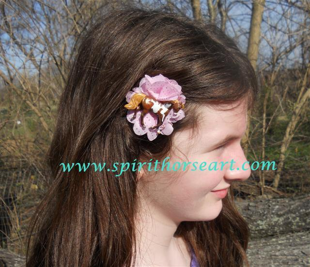 Pinto Pony Hair clip, Horse Fascinator