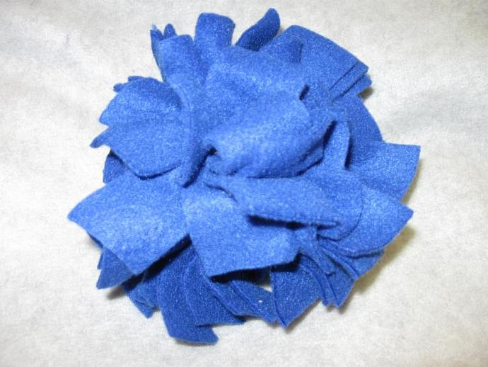 Large Royal Blue Fl'tossums Fleece Ball Dog Toy