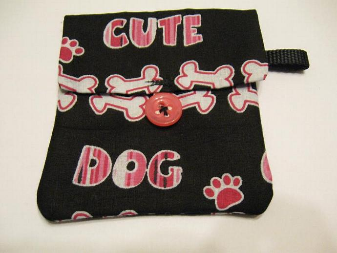 Cute Dog Pooch Pouch Treat Trainer Poop Bag Holder
