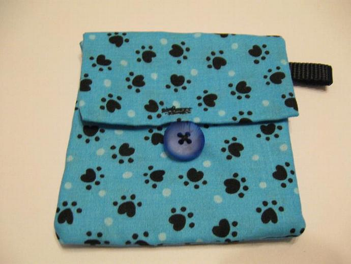 Blue Paws Paw Print Pooch Pouch Treat Trainer Poop Bag Holder