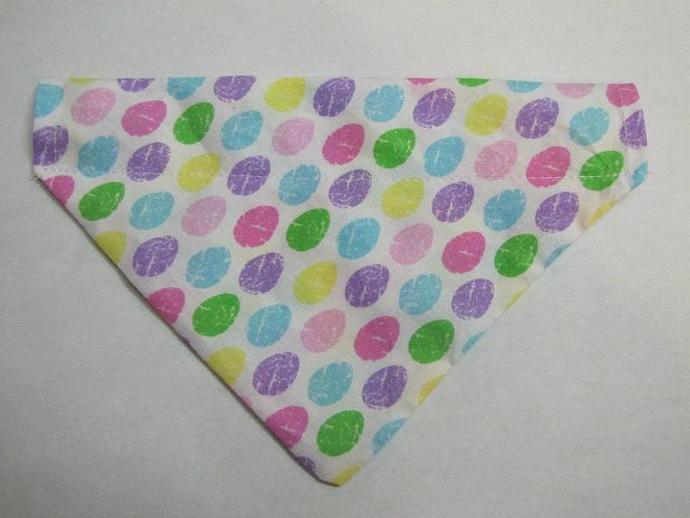 Medium Easter Egg Jelly Bean  Slip Over the Collar Bandanna Scarf