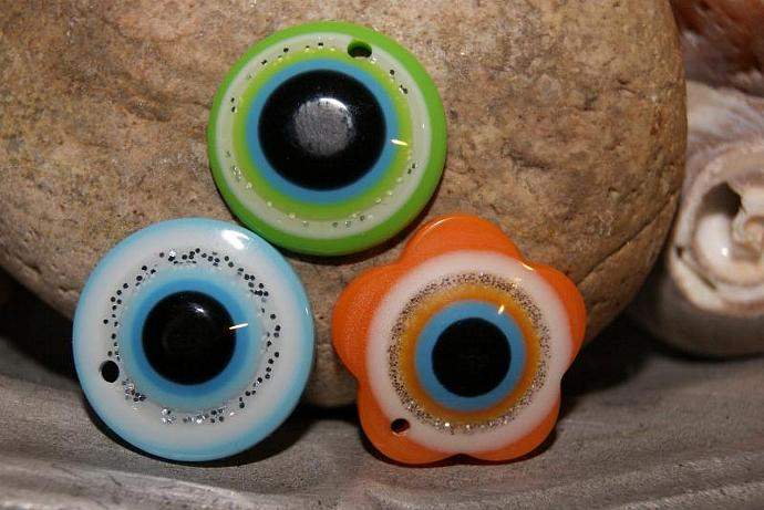 Evil Eye Pendants - 3 Pcs