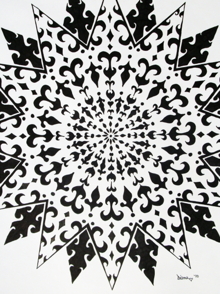 Black And White Sun -  print