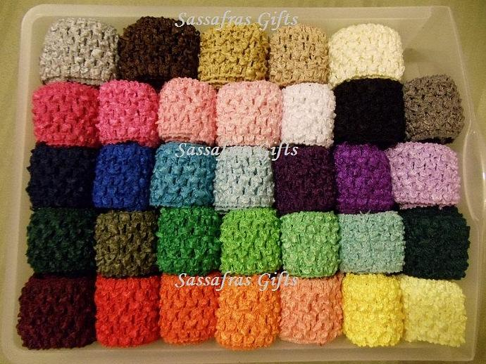 NEW COLORS--Waffle Headbands--1.5 inch--33 Colors Available