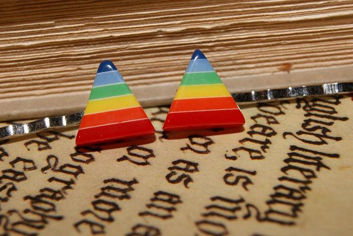 Show Your Pride - Polygon Rainbow - Bobby Pins