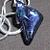 Fused glass purple sharktooth  shape necklace