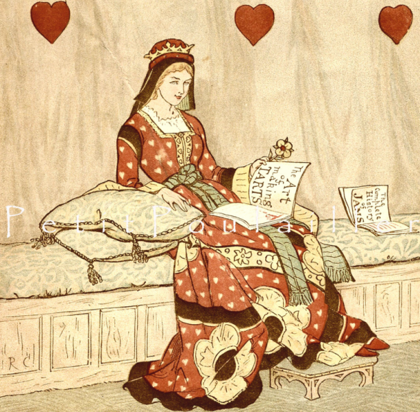 Queen of Hearts and Her Art in Making Tarts 1890 Antique Randolph Caldecott