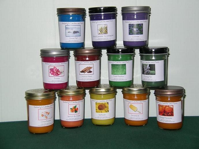 Cucumber Cantaloupe PURE SOY Jelly Jar Candle