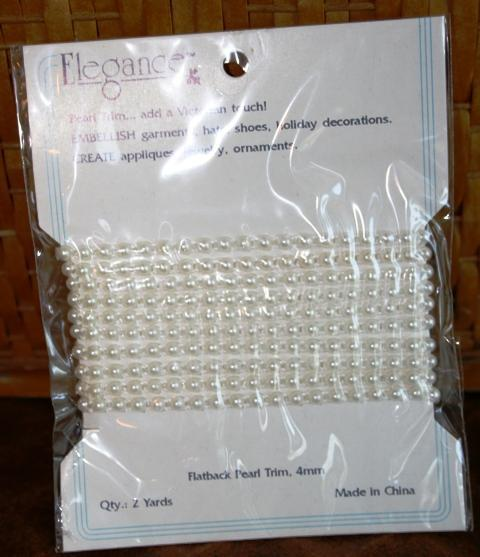 2 yards of petite flatback pearls 4mm Shabby chic
