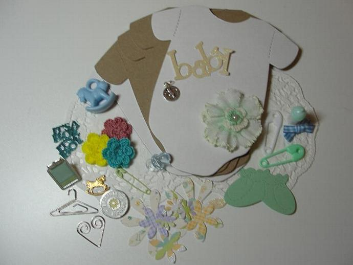 Deluxe Baby Boy Onesie Mini Album Kit (NEW)