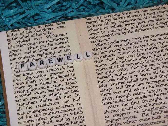 Farewell 'Pride and Prejudice' Card