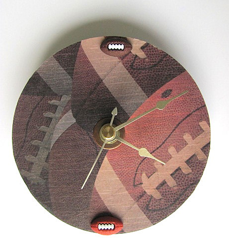 Football CD Upcycled Clock