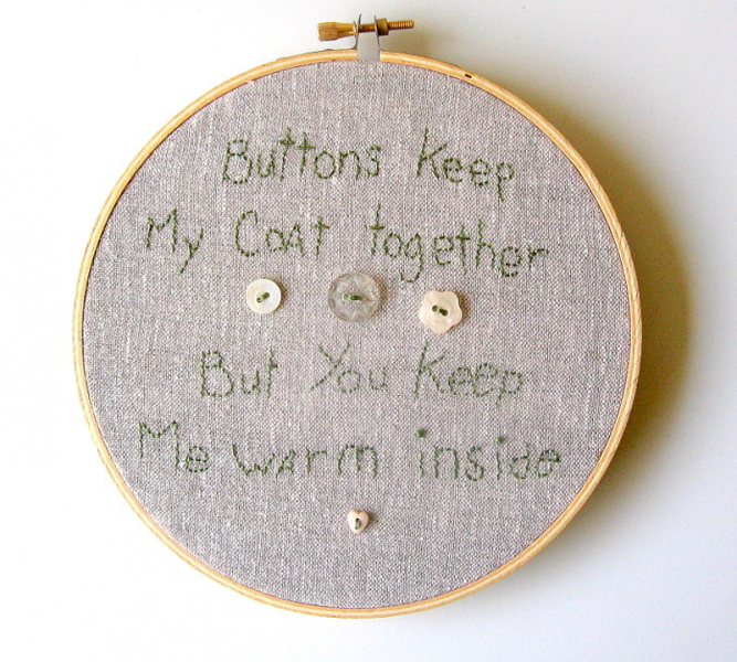Button Hoop Wall Art Free US Shipping
