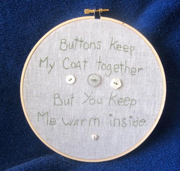 Button Hoop Wall Art Free US Shipping