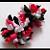 3/8 coal black double ruffle ribbon