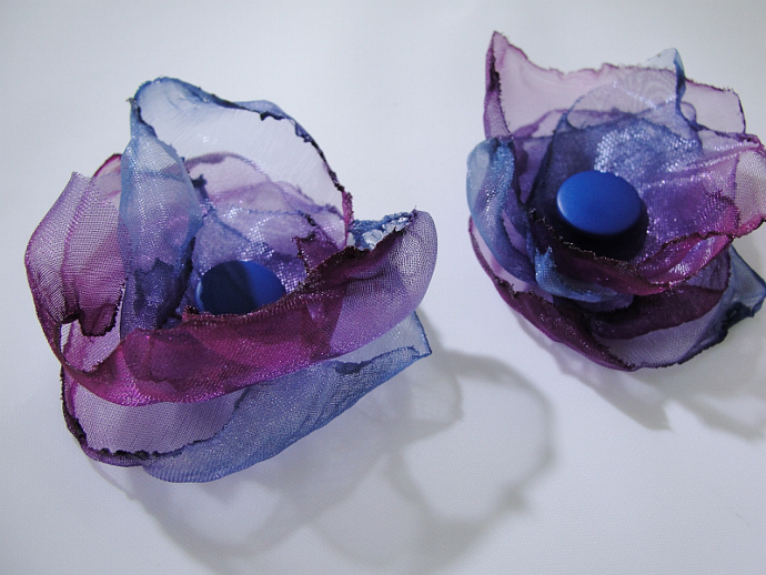 Midnight Blue Silk Flower Accessory