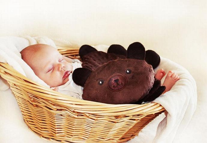 Minky Teddy Bear Security Blanket, Lovey Blanket, Satin, Baby Blanket, Stuffed