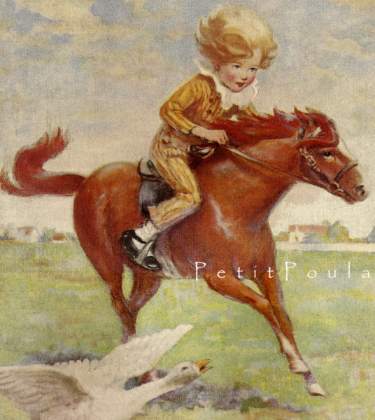 Jackanapes 1923 Edwardian Jessie Willcox Smith Antique Storybook Lithograph
