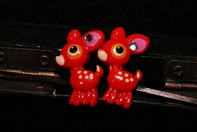 Red Hot Reindeer Bobby Pins