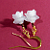 White Wedding Pearl Flower Earrings