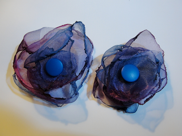 Set of Two Purple Flower Accessories