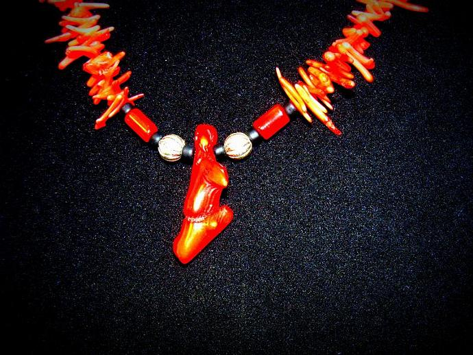 Red Stick Coral Necklace