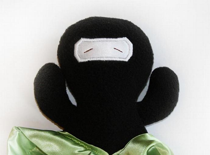 Ninja Security Blanket, Lovey Blanket, Satin, Baby Blanket, Stuffed Animal, Baby