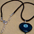 Blue Eyed Satin Cord Necklace