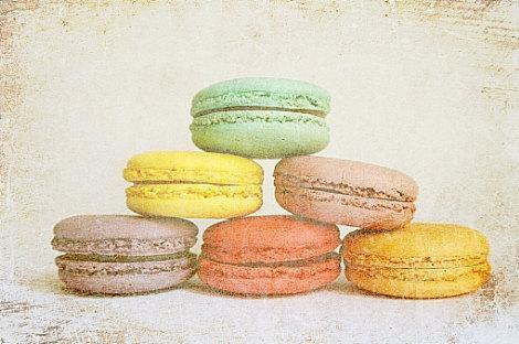 """Macaroon Cookies in Lovely Pastel Colors - Fine Art Photography 8x10"""" Matte"""