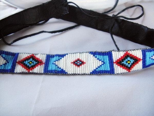 8d36ad10dfd ... Billy Jack Pattern Hand Beaded Hatband AND 2 Cuff Bracelets