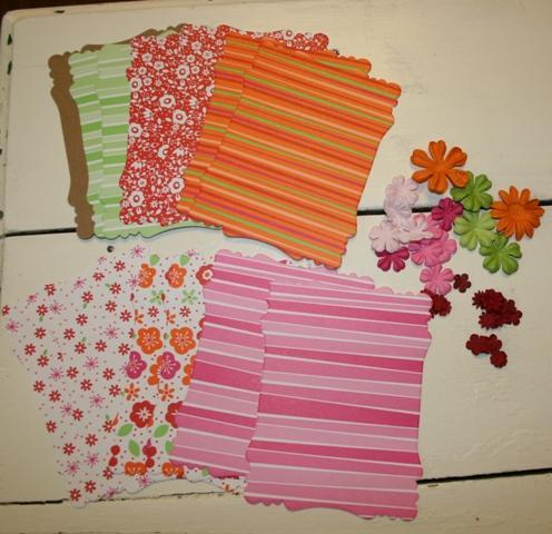 Girlie mini MEDIUM victorian chipboard kit retired stampin up SASSY design paper