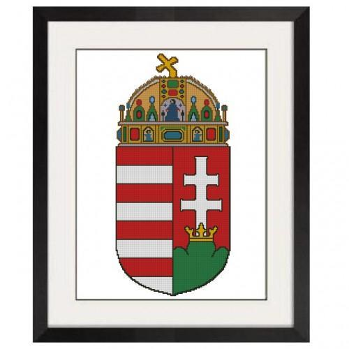 ALL STITCHES - HUNGARIAN COAT OF ARMS CROSS STITCH PATTERN - PDF -259