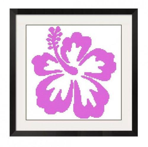 ALL STITCHES - PINK HIBISCUS CROSS STITCH PATTERN .PDF -321