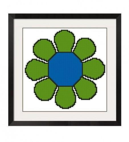 ALL STITCHES - RETRO STYLE FLOWER POWER CROSS STITCH PATTERN .PDF -305