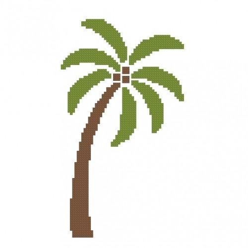 ALL STITCHES - PALM TREE CROSS STITCH PATTERN .PDF -269