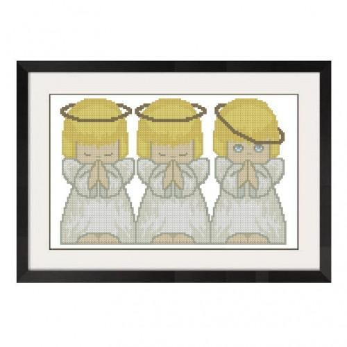ALL STITCHES - THREE ANGELS CROSS STITCH PATTERN .PDF -270