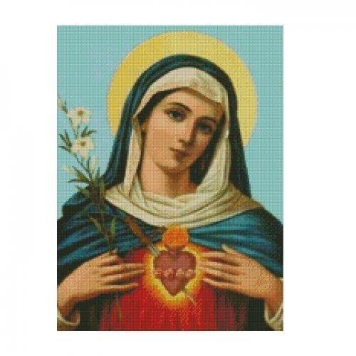 ALL STITCHES - MOTHER MARY CROSS STITCH PATTERN .PDF -437