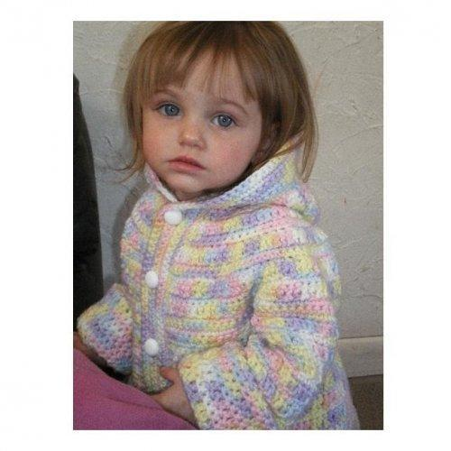 ALL STITCHES - RAINBOW CHILDS HOODIE CROCHET PATTERN .PDF -040A