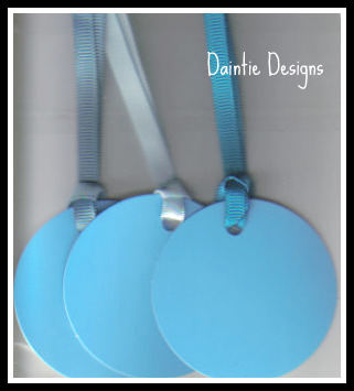 Light Blue Tags Set of 3